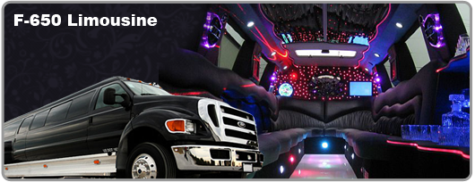 Las Vegas F650 Limo and interior